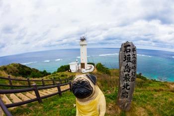 くんぺい君と平久保崎灯台